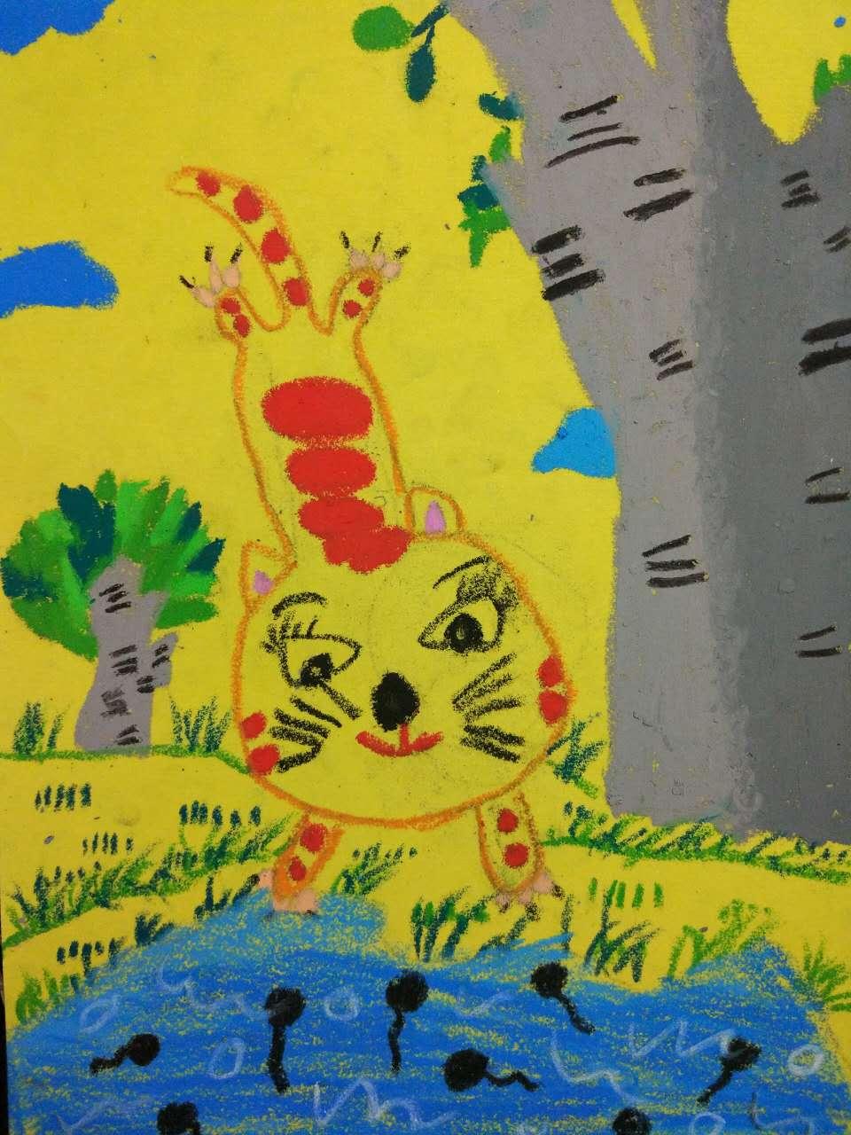 砂纸画:猫咪
