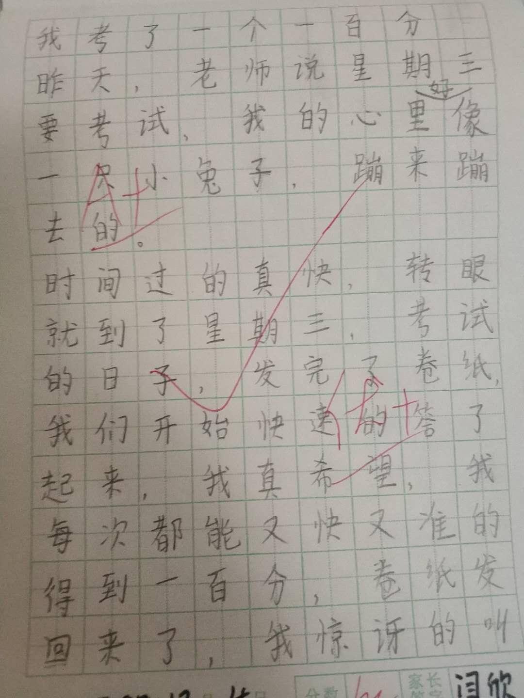 日记:我考了一个一百分