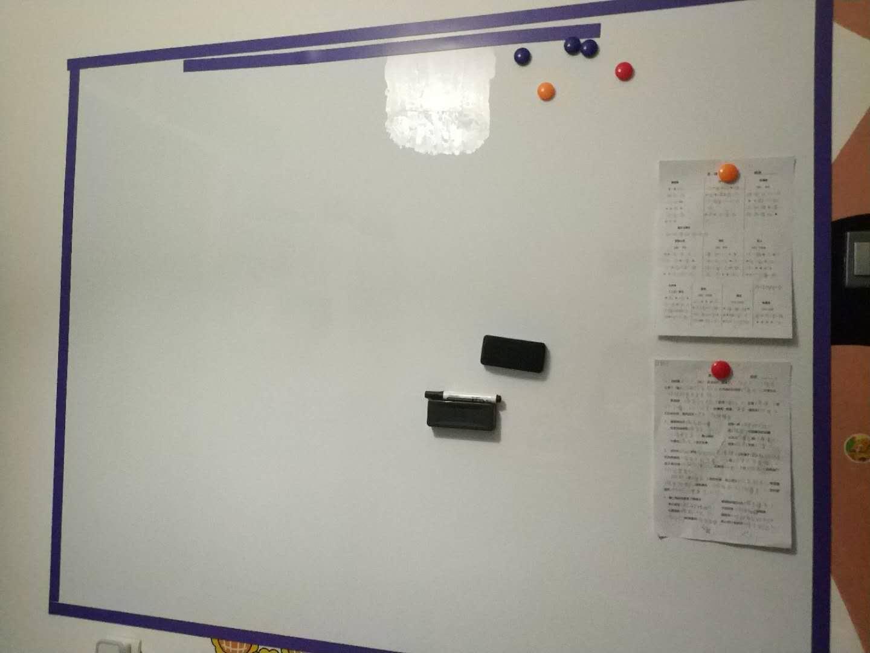 白板安装后