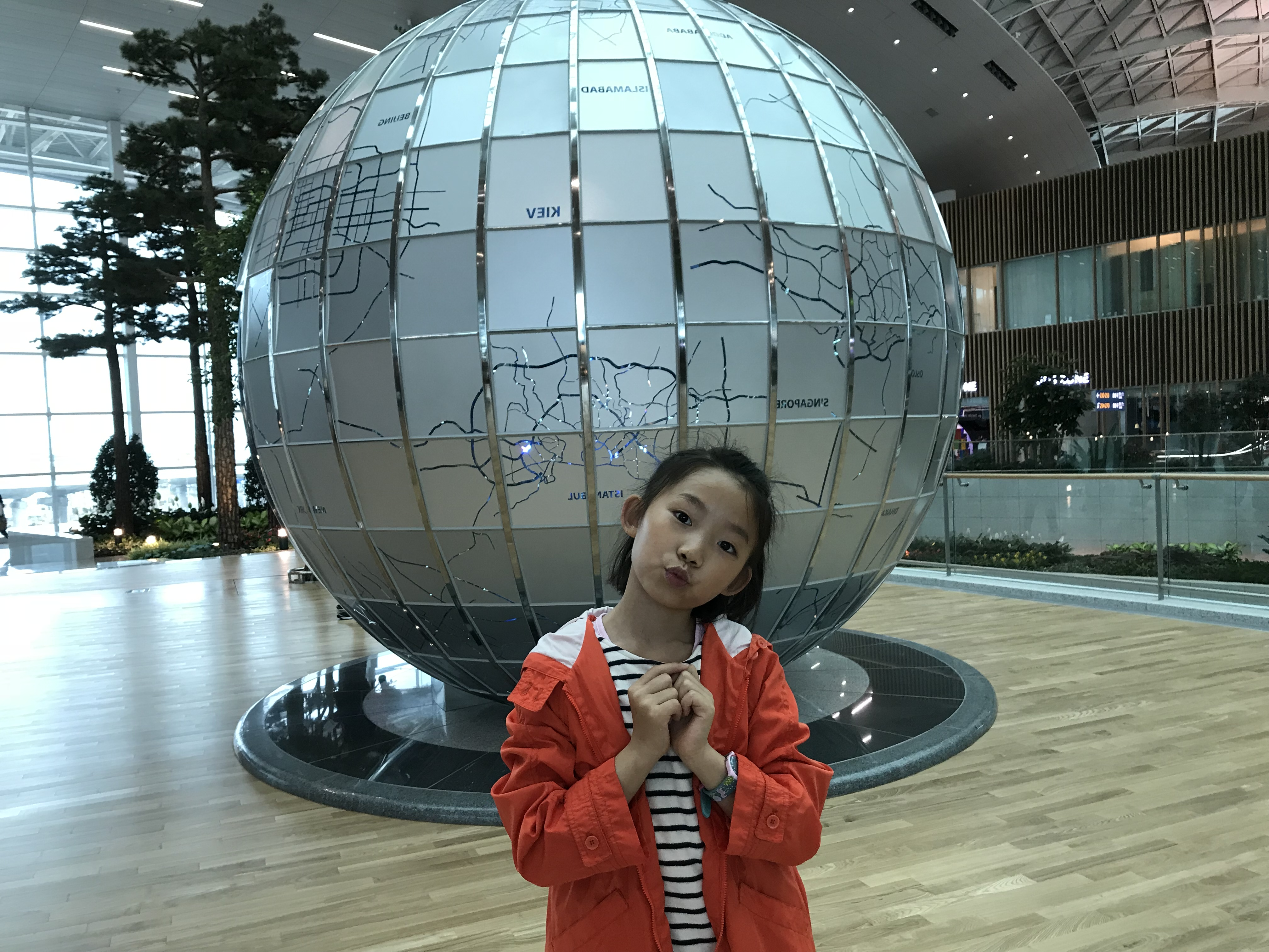 在首尔仁川机场转机2