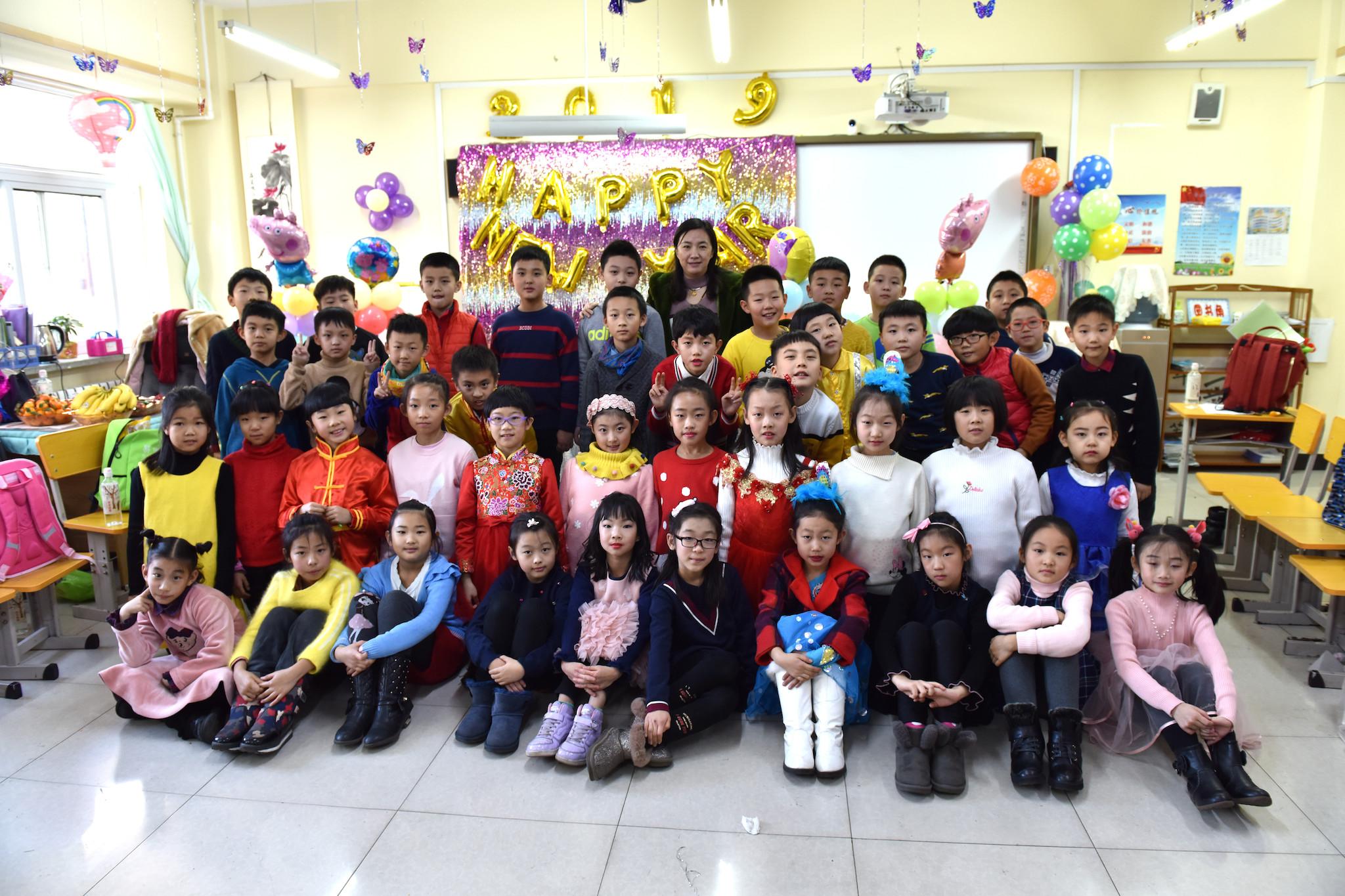 2019年珠江五校三年十四班全体师生新年联欢合影