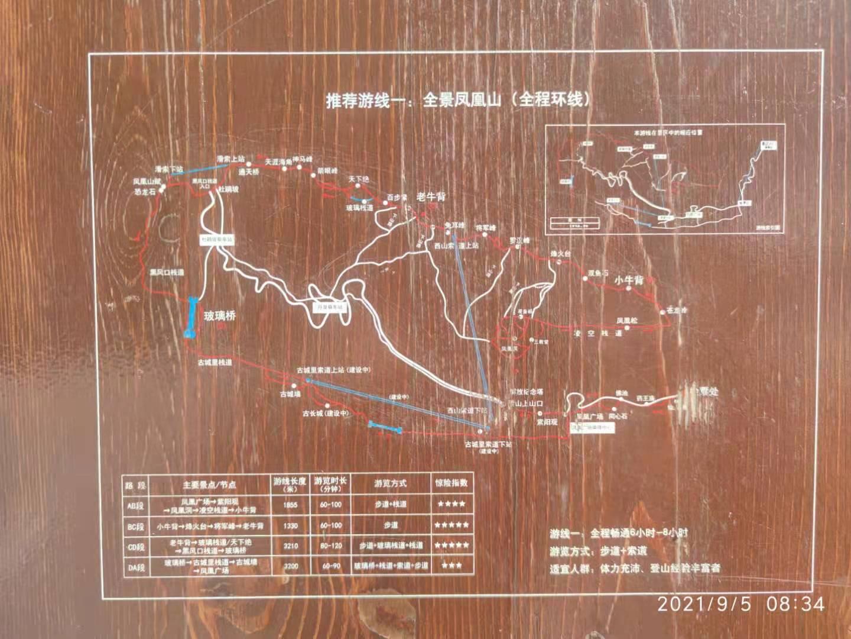 凤凰山全程环线示意图